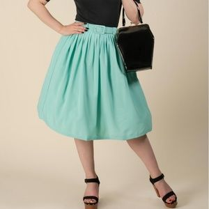 Tatyana 50s Gloria Robins Egg Blue Skirt w Pockets